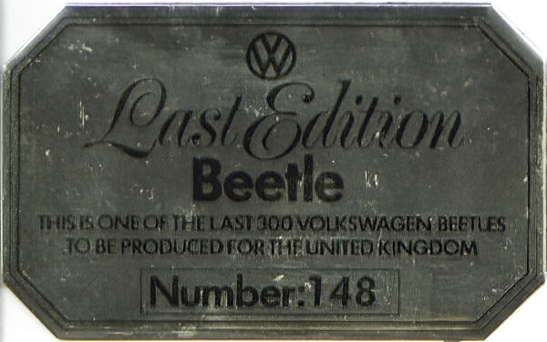 LEB Number 148 - Dashboard plaque