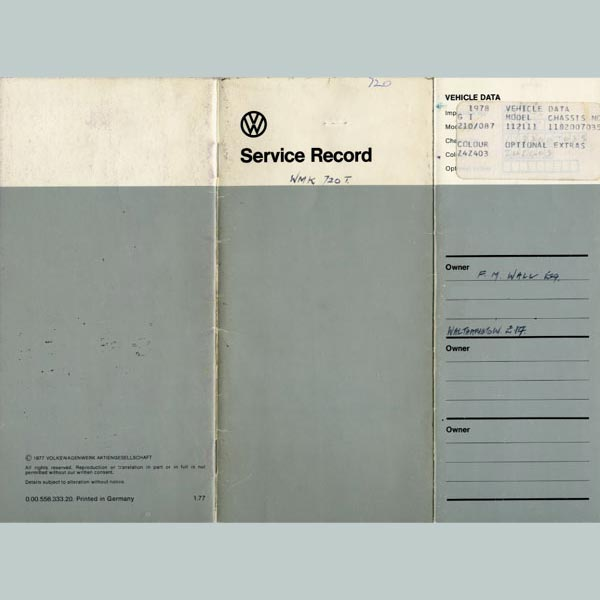 Service record - Page 1