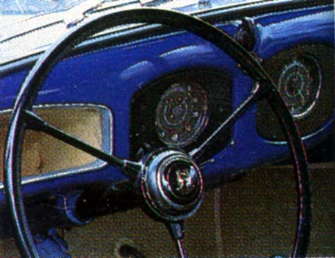 Classic Cars - June 1994 - VW Transporter steering wheel is larger than standard for the 1947 car