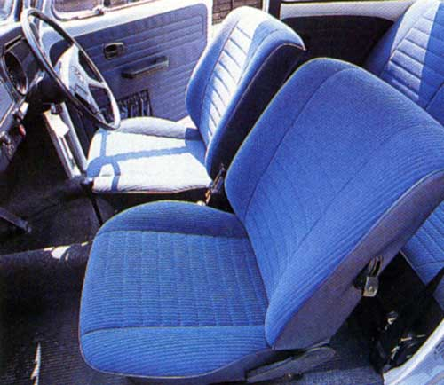 Ultra VW - November 2003 - Blue velour interior was used in all Last Edition models.