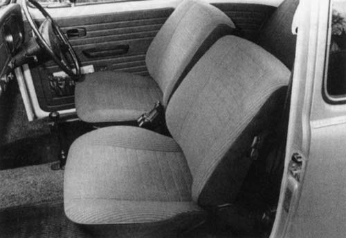 Volkswagen Driver - September 2003 - Front seats