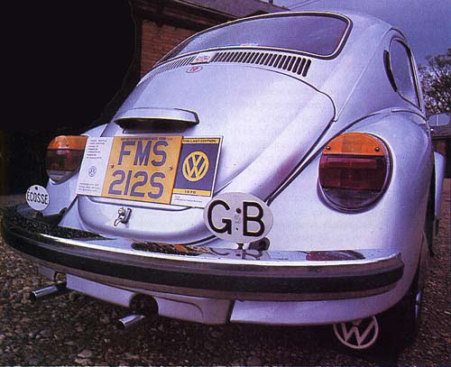 VolksWorld - September 1997 - Display plate showing the Beetle's vital statistics