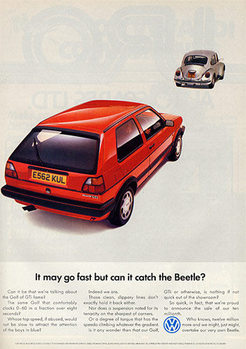 VW Motoring April 1988 - Golf Advert