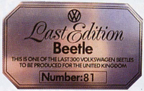 VW Motoring January 2003 - LEB plaque