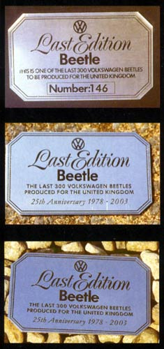 VW Motoring - January 2004 - A selection of LEB plaques