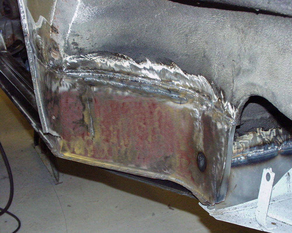 March 2003 - Wheel arch repairs